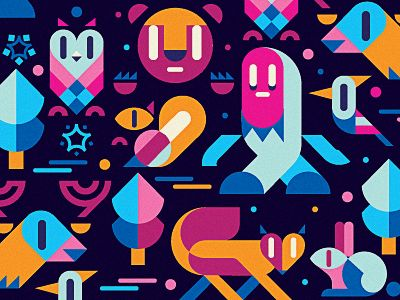 colour palette: Design Inspiration, Graphic Design, Pattern, Geometric Animal, Box Tops, Winter Wood, Igor Eezo Art, Colour Palette, Art Illustration