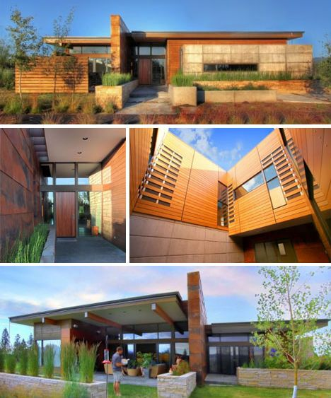 Home Design Ideas Architecture: Desert-homes-rustic-modern-earth-wood-steel