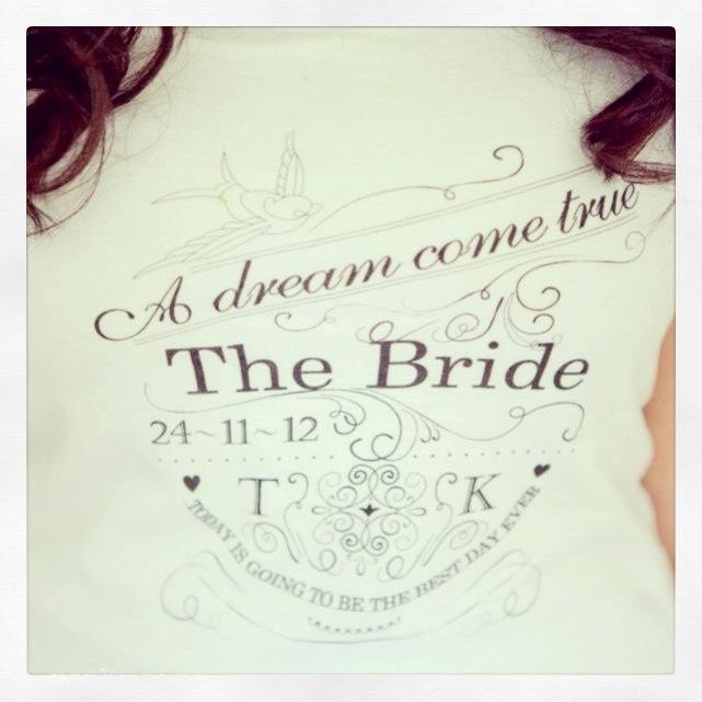 The Bride | Pre Wedding | Tshirt | Kyle & Tristyn's Wedding Day