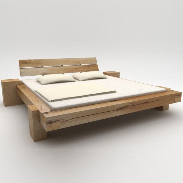 Holzbett massiv rustikal  Die besten 25+ Holzbett Ideen auf Pinterest | Holzbett-Designs ...