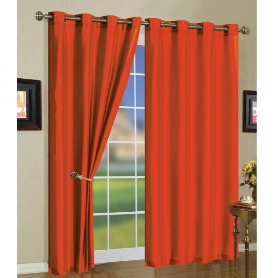Curtains With Valance For Living Room Plaid Faux Silk Curtains