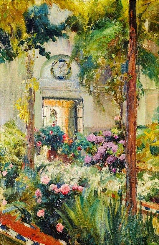 Joaquin Sorolla y Bastida (1863 –1923) el patio de la casa de sorolla