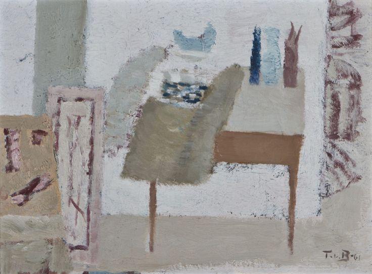 Tuomas von Boehm: Sisäkuva, 1961, öljy, 29x39,5 cm - Hagelstam K138