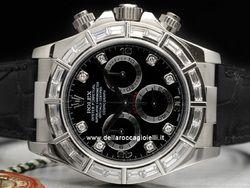 Rolex - Cosmograph Daytona 116589 BRIL Cassa: oro bianco - 40 mm Ghiera: baguette Vetro: zaffiro Quadrante: nero - con diamanti Bracciale: oyster Chiusura: deployant Movimento: automatico