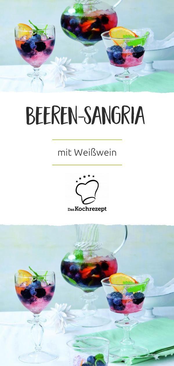 Beeren Sangria Rezept Sangria Beeren Spanische Getranke