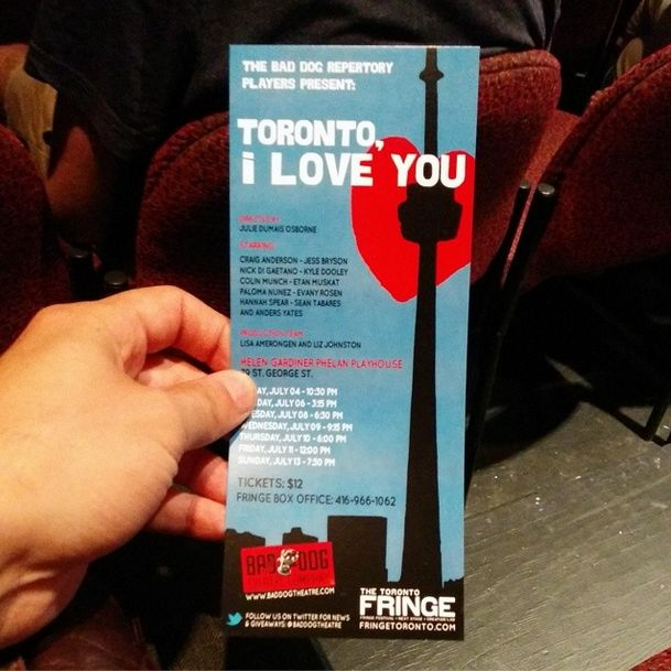 Toronto, I Love You. An improve show telling love stories set in the city we love.