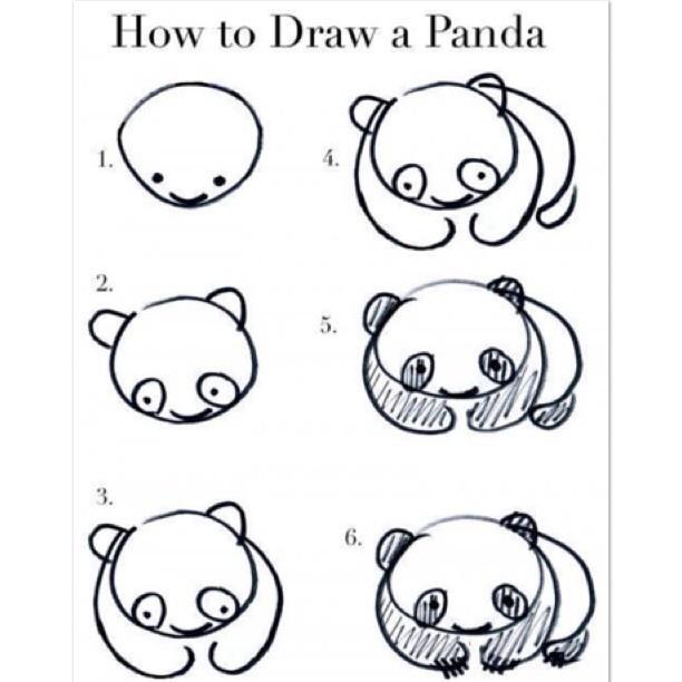 Dibujar Oso Panda Paso A Paso Imagui