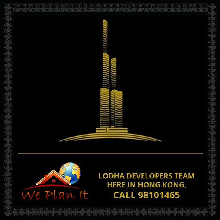 LODHA #Developers Team here in Hong Kong, Call 98101465 for a Meeting at your #Doorstep #Today! Our #Lodha #Projects in #Mumbai Visit us: https://www.weplanithk.com/project/lodha/89/   We Plan It - Hong Kong We are #RealEstate Advisory in #HongKong For #IndianProperty #Investment #Home #SecondHome #NRIInvestment