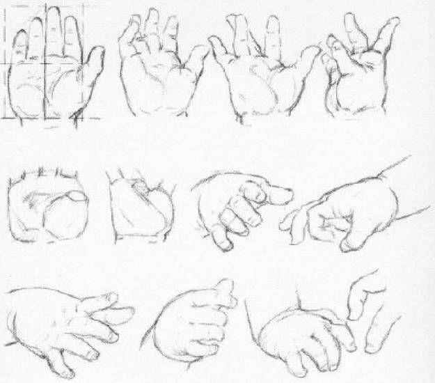 Aprende Como Dibujar Manos Paso A Paso Videos Guia Unica Como Dibujar Manos Manos De Bebe Dibujo De Bebe