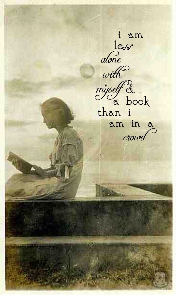 With a book in hand, the world is infinite…