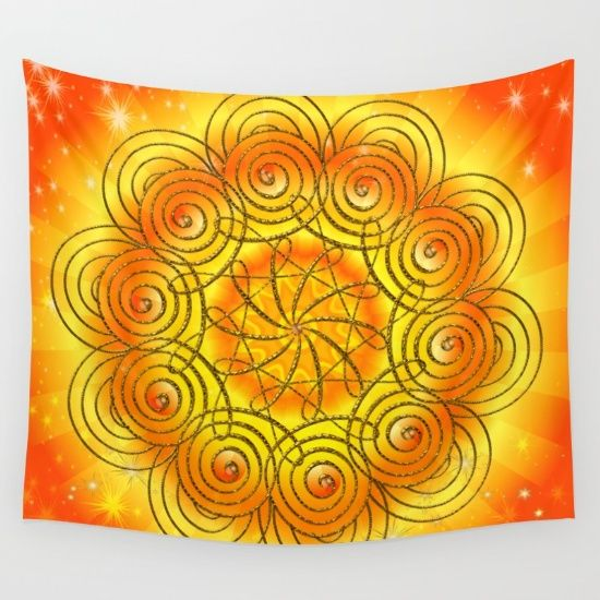 mandala harmony wall tapestry products mandalas and. Black Bedroom Furniture Sets. Home Design Ideas