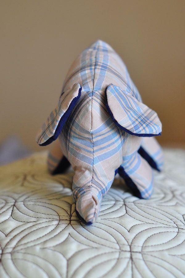 Cute little stuffed elephant tutorial