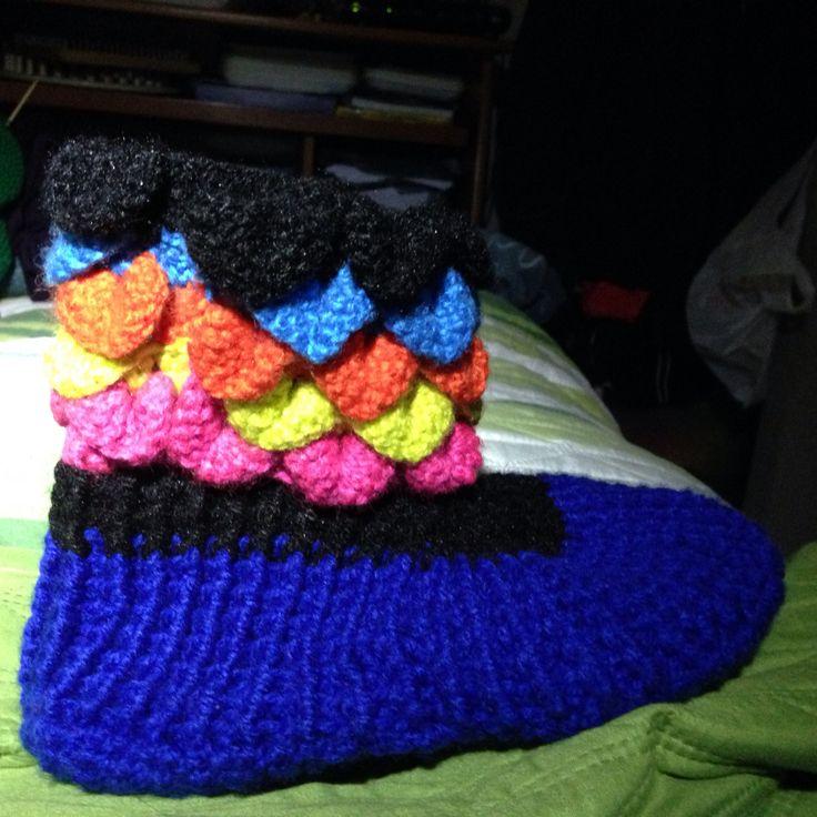 Pantufla a crochet