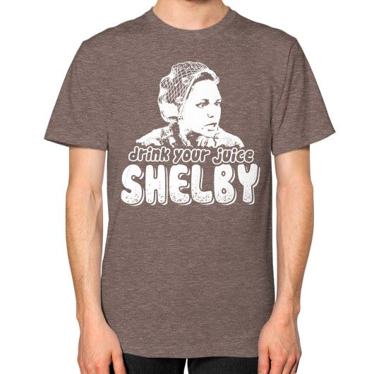 DRINK YOUR JUICE SHELBY Unisex T-Shirt (on man)