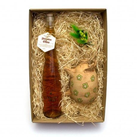 Skvělý dárek pro muže i ženu - medovina je lahodný mok a retro kasička prasátko - je užitečné i vtipné.