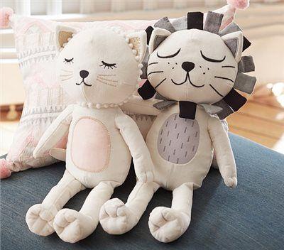 The Emily & Meritt Cat & Lion Plush | Pottery Barn Kids