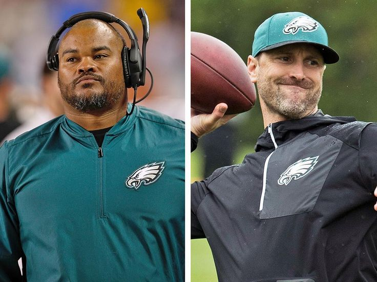 Doug Pederson confirmed the team interviewed both WR coach Mike Groh and RB coach Duce Staley for their open offensive coordinator position. Groh got the position but Eagles rewarded Staley with a little promotion of his own naming him an Assistant Head Coach! Well deserved for two guys who were key in turning the offense around this past season! #eagles #philadelphiaeagles #flyeaglesfly #nfl #football #coach #coaches #philadelphia #philly #phillysports #offense #sports #trusttheprocess