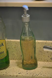DIY:: Vintage Coke Bottle Soap Dispenser Tutorial ! Love This ! (total cost 2 dollars) !