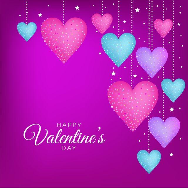 Purple Valentines Day Vector Greeting Card Design Valentine Card