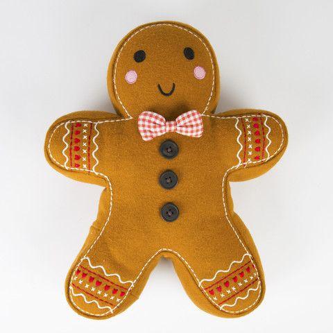 Roger the Gingerbread Man Cushion – Mr Panda's Emporium