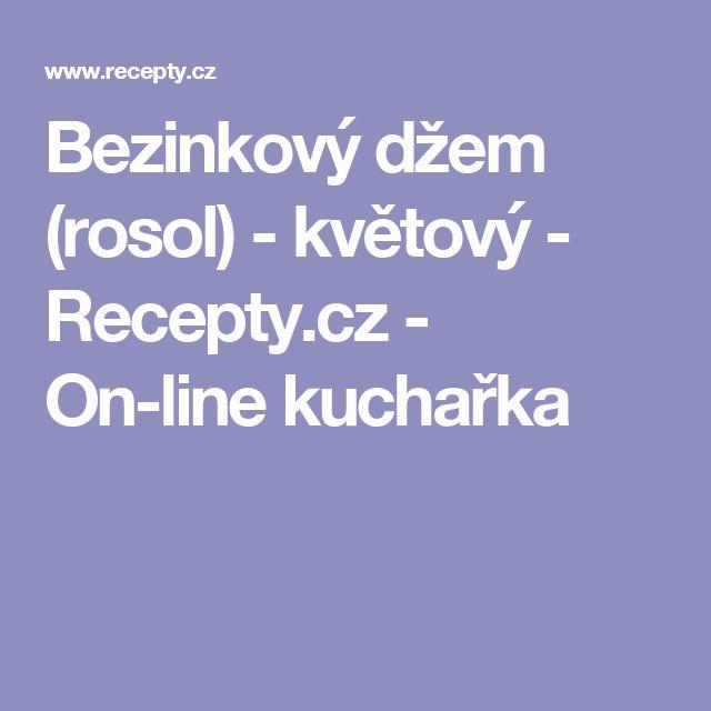 Bezinkový džem (rosol) - květový  - Recepty.cz - On-line kuchařka