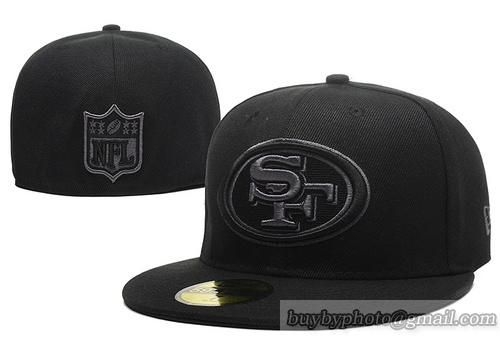 Cheap Wholesale San Francisco 49ers 59Fifty Caps Fitted Hats All Black for slae at US$8.90 #snapbackhats #snapbacks #hiphop #popular #hiphocap #sportscaps #fashioncaps #baseballcap