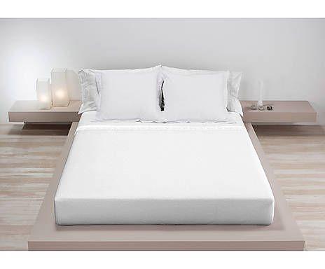 Juego de sábanas 100% algodón para cama de 135 Georgia, 3 piezas – blanco y gris