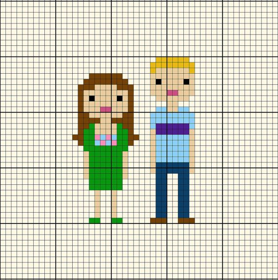Hey, I found this really awesome Etsy listing at https://www.etsy.com/listing/121622130/pattern-custom-family-portrait-pixel