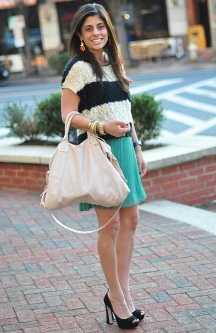 Stripes + Pleats - Naina with STYLEN luckymagazinePretty Spring, Health Beautiful, Fashion Style, Diet, Stylen, Dresses, Pleated, Naina, Practice Pretty