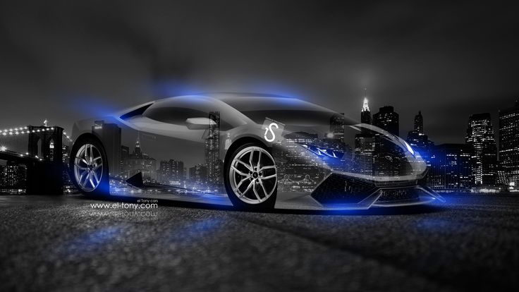 Black Lamborghini with Neon Blue Lights | Lamborghini-Huracan ...