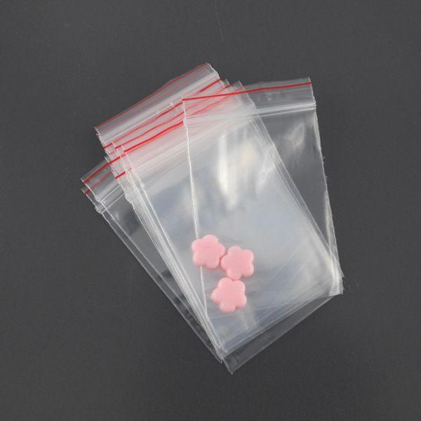 x100 Sachets plastique zip 4x6cm : Emballages cadeaux bijoux par perlio