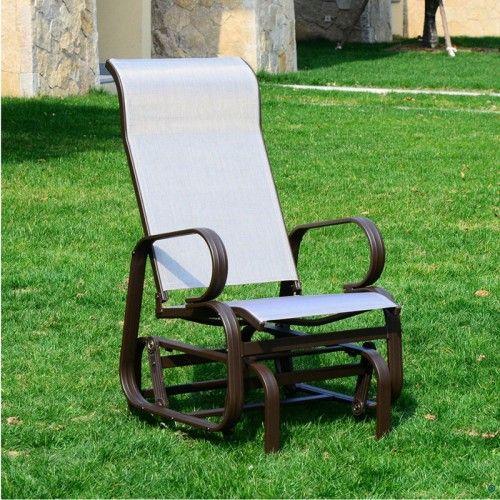 AOS Patio Clearwater Mesh Patio Glider Chair