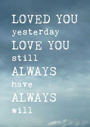 Romantische liefdeskaart quote blauwe wolken - Valentijnskaarten - Te vinden op www.Kaartje2go.nl