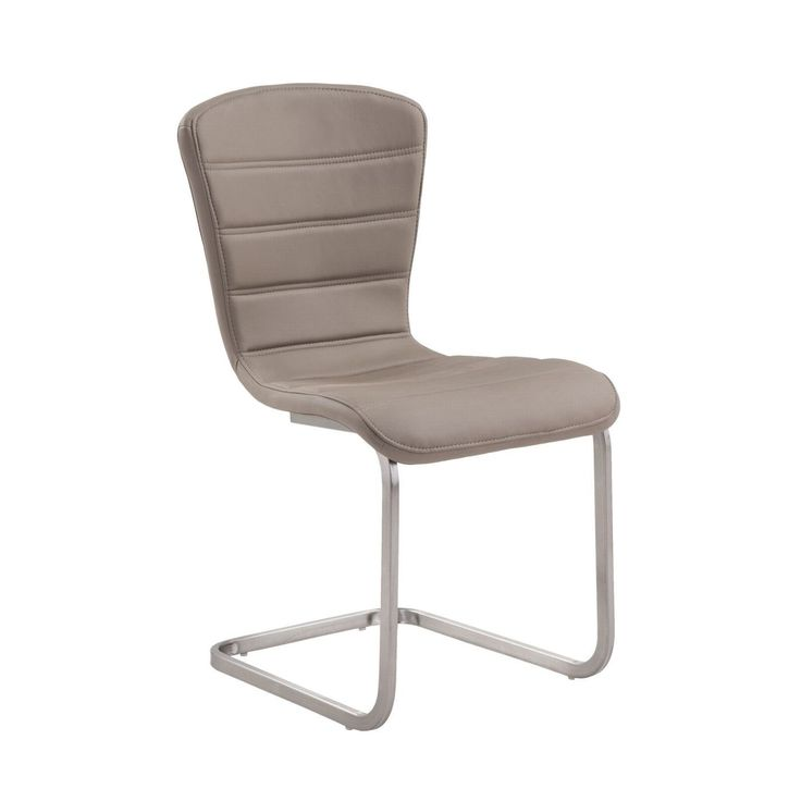 Cameo Modern Side Chair In Coffee and Stainless Steel - Set of 2