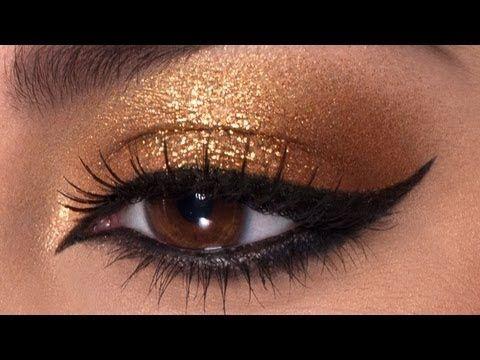 ▶ Cleopatra Makeup Tutorial! - YouTube I love gold, I love Cleopatra, and I looove this tutorial!