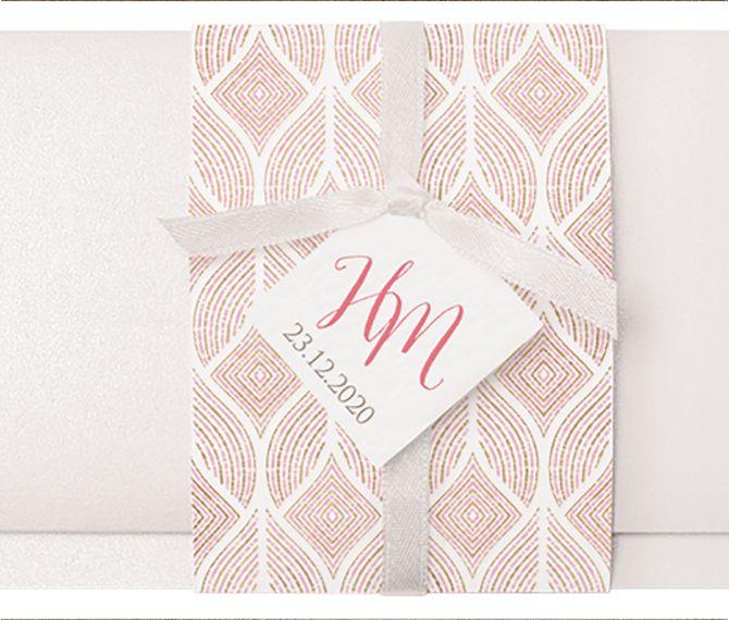 Diese Luxuriose Einladung Mit Wickel Und Einem Filigranen Muster