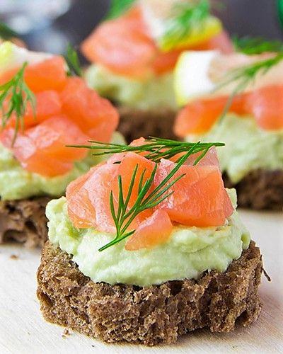 Salmon Avocado Bites