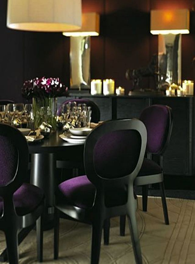 Best 25 purple dining chairs ideas on pinterest purple for Purple dining room table