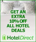Save an extra 10% on hotel bookings with Hotel Direct!  Hotel Direct has great hotel offers, but Rewards For Forces members save even more when you follow the link on our website.
