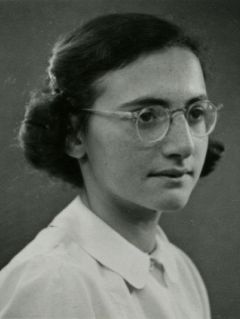 Margot Frank, sister of Anne died in concentration camp Bergen-Belsen from typhus. March 1945.
