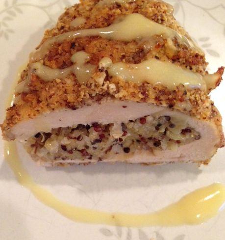 Recipe: Hazelnut Crusted Chicken Stuffed With Quinoa ~ Trendy Mom Reviews: Chicken Recipes, Chickenbreast Quinoa, Chicken Stuffed, Mom Reviews, Quinoa Recipes, Crusted Chicken, Recipes Chickenbreast