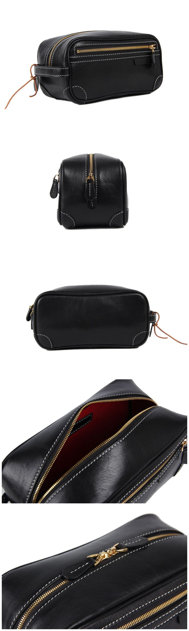 Leather Pouch Bag Clutch Bag Comestic Bag