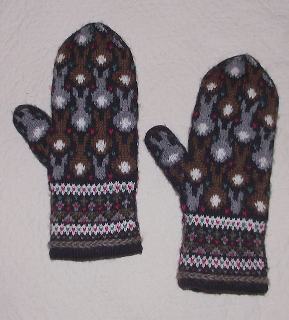 Ravelry: Bunny and Frog Mittens pattern by Jocelyn White. waiting for her site to become available to purchase pattern