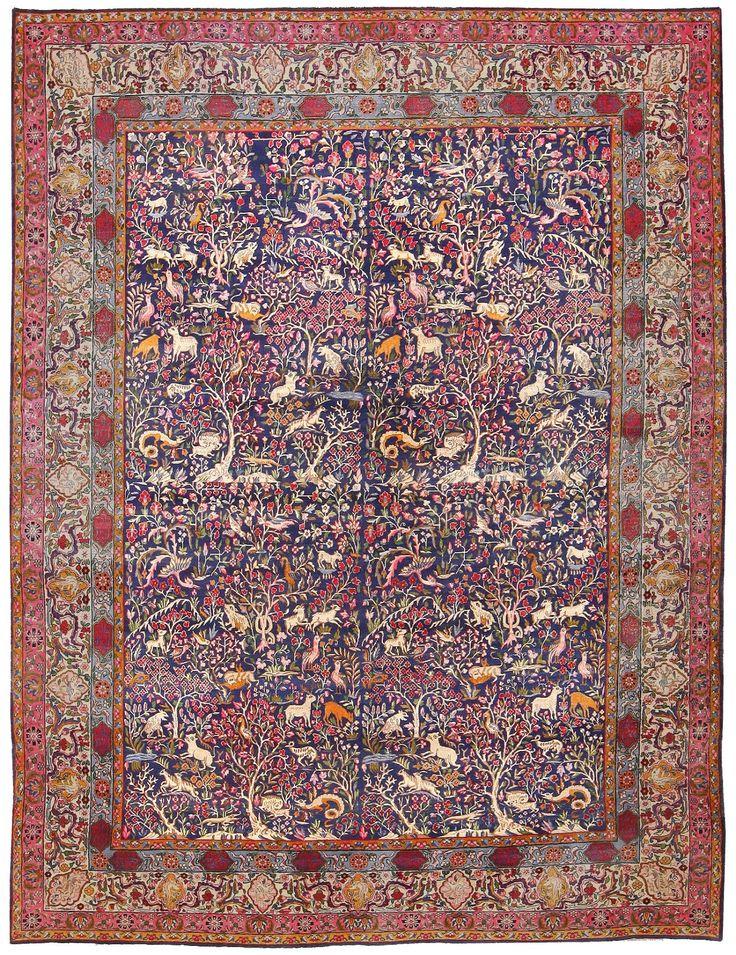 Antique Garden of Paradise Persian Carpet 48340 antique garden of paradise persian carpet 48340 detail