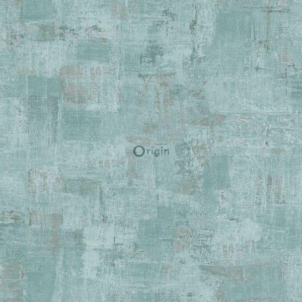 347387 zijdedruk vlies behang schilderachtige structuur lagune groen