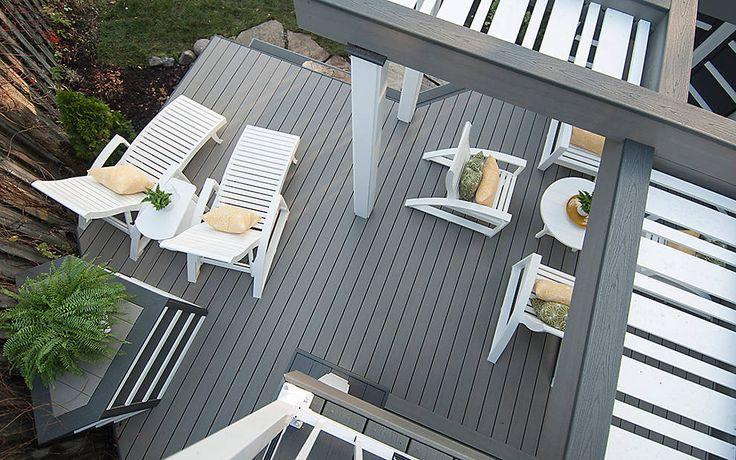 dozens of gorgeous deck photos to jumpstart your own deck design ideas and plans featuring high performance trex composite decking railing lighting - Trex Deck Design Ideas