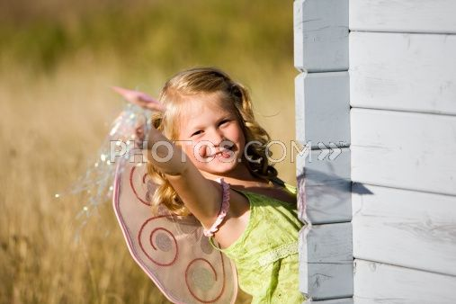 Royalty-Free Images: Little Girl With Butterfly Wings And Magic Wand