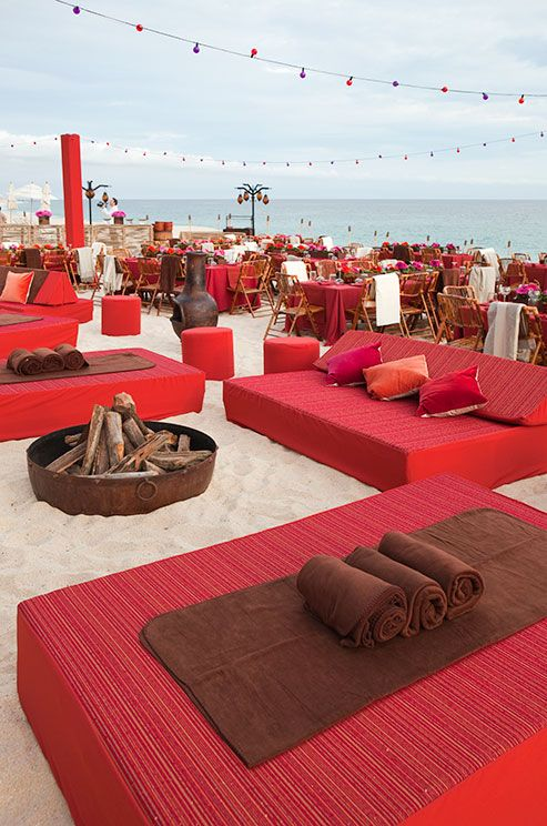 It doesn't get much better than beaches, bonfires, string lights and chic daybeds.