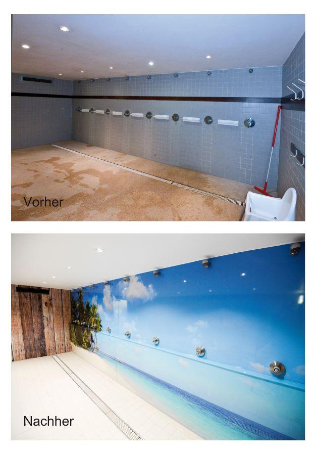 sanierung des duschbereichs im freizeitbad monte mare in kreuzau mittels esg glas und alu. Black Bedroom Furniture Sets. Home Design Ideas