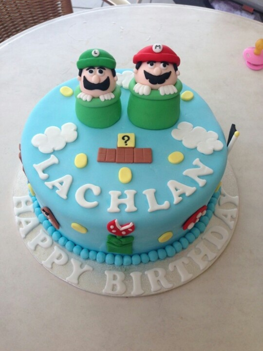 Mario - Boys birthday cake  Tom would so love this